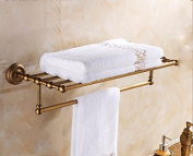 Hctina Towel Rack Bathroom Kitchen Wall Mounted Towel Bar Rail Shelf Storage Holder 62*23Cm