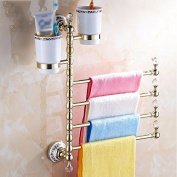 Hctina Towel Rack Bathroom Kitchen Wall Mounted Towel Bar Rail Shelf Storage Holder 30Cm
