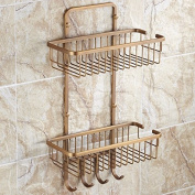Hctina Towel Rack Bathroom Kitchen Wall Mounted Towel Bar Rail Shelf Storage Holder 29.5*49Cm