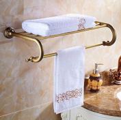 Hctina Towel Rack Bathroom Kitchen Wall Mounted Towel Bar Rail Shelf Storage Holder 62*28Cm