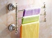 Hctina Towel Rack Bathroom Kitchen Wall Mounted Towel Bar Rail Shelf Storage Holder 30*27Cm