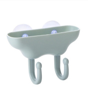 Albeey bathroom drain shelf storage box strong suction cup double hook