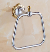 HZZymj-Contemporary Mirror Polished Finishing Bathroom Accessories Solid Brass Material Towel Ring