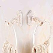SUHANG towel ring Bathroom Pendant Retro Towel Ring Towel Hanger Towel Rack Ceramic White Border Towel Ring BathroomPicture Money