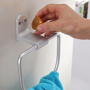 SUHANG towel ring Bathroom Rack Rack Towel Ring Space Aluminium Towel Hanging Ring Modern Square Bathroom AccessoriesA