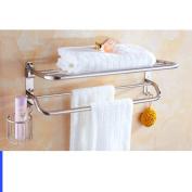 Hair Dryer Holder,Hair Dryer Shelf,Hair Blow Dryer Holder, Stainless steel Towel rack Bathroom racks blower shelf storage basket folding Towel rack-B