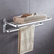 Free punching European towel rack, space aluminium bathroom rack, bathroom hardware hanger, bathroom towel rack,Goods rack