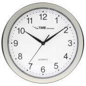 The Time Company Basic Wall Clock Pewter 31cm