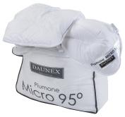 daunex Micro 95 ° Warm Duvet, Polyester/Microfibre, White, Single, 155 x 200 x 2 cm