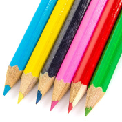 4x Sets Of 6 Kids Mini Colouring Pencils - Great Small Party Bag Fillers - Childrens Arts & Crafts