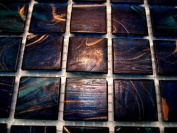 Full Sheet 225 Golden Deep Blue Swirl Gold Dust Tiles