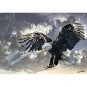 "Heidi Heidi4167 ""Black and White Bald Eagle"" Art Puzzle"
