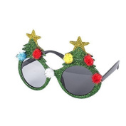 Novelty Christmas Theme Glasses (Christmas Tree, Santa, Reindeer, Snowflake etc)