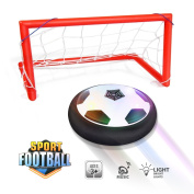 Waitiee kids Hover Ball Game Toys with Powerful LED Light and Music Air Power Soccer Disc Glide Base Ball Game Christmas gift for children Indoor & Outdoor Friends Game