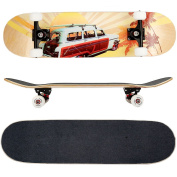 FunTomia® Skateboard 31 INCH (78,5cm) with a Canadian 7-ply maple deck / MACH1® High Speed bearings / Wheels 53x34mm 100A
