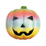Stress Reliever Toy Muium Exquisite Fun Rainbow Pumpkin Scented Squishy Slow Rising Squeeze Decompression Toys Phone Strap