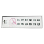 White Wooden My First Year Unicorn Poem Baby Infant Pictures Photos Images Frame