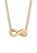 Diamore Women 14 ct (585) Yellow Gold Round Diamond Pendant Necklace
