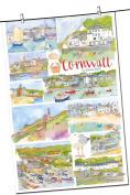 Cornwall Coast Tea Towel - Emma Ball