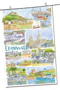 Cornwall Montage Tea Towel - Emma Ball