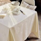 Garnier-Thiebaut Mille Couleurs 24778 Thousand Glass Fragments, Tablecloth 180 x 180 cm Cotton Chocolate/White