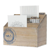 Wooden magazine rack - 3 compartments