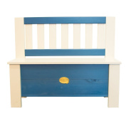 AXI Children's Storage Bench Moby Blue and White A031.041.00