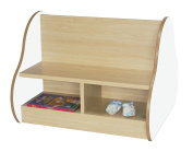 Mobeduc Double Sided Bench for 4 Children, Wood, White, 70 x 54 x 66 cm