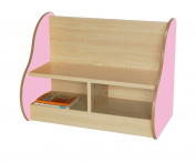 Mobeduc Bench for 2 Children, Wood, Pink, 70 x 54 x 40 cm