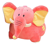 Children's Plush Elephant Riding Chair - Available in Pink or Grey - Free Delivery