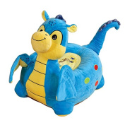 Children's Plush Dragon Sitting Chair - Available in Pink or Blue - Free Delivery