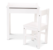 Melissa & Doug Desk & Chair - White Children's Furniture