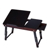 Bamboo notebook computer desk multi-functional folding casual lazy