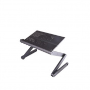 Notebook folding computer table 360 degree rotating table leg adjustment height aluminium table
