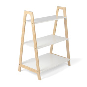 Kledio Children's Wooden Shelving Unit in White – Kid's Storage Unit – Children's Bookcase with 3 Insertable Shelves – Perfect for Kid's Bedroom