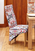 Baumhaus Oak Full Back Upholstered Dining Chair - Modena