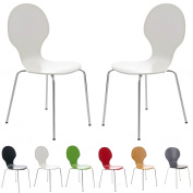 2 Keeler Style Kimberley Chrome and Metal Stackable Dining Chairs Choice of Slate Grey Red Green White Black or Natural - Kitchen Cafe Bistro Stacking Chairs