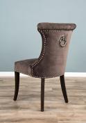 The Velveteen Ring Back Dining Chair - Stone