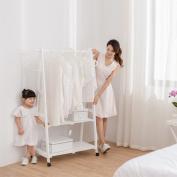 RAN Solid Wood Coat Rack Floor Hanger Hanger Clothes Storage Rack White / Brown,White
