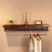 Coat Racks, Shoe Rack,Bag Rack,Clothing Store Racks,Retro Iron Clothing Display Stand, Wooden Side Hanging Display Stand