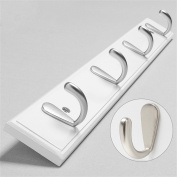 YFF~Fashion Hangers 3 Colours Solid Wood Clothes Hooks Creative Wall Hanging Hangers After The Door Bathroom (Multiple Sizes Optional) Daily Necessities