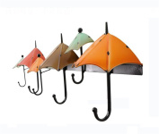 YFF~Fashion Hangers Iron Clothes 6 Hooks Creative Umbrella Shape Wall Hanging Hangers Entrance Wall Decorations Daily Necessities