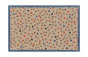 Lume Cream Dots Design by Turtle Mat Indoor Washable Nylon Multi-Grip Mat - 50X75cm