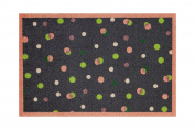 Lume Peach & Lime Dots Design by Turtle Mat Indoor Washable Nylon Multi-Grip Mat - 50X75cm