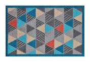 Lume Geometric Design by Turtle Mat Indoor Washable Nylon Multi-Grip Mat - 50X75cm