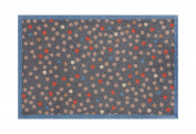 Lume Grey Dots Design by Turtle Mat Indoor Washable Nylon Multi-Grip Mat - 50X75cm