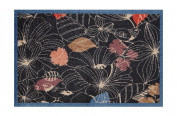 Lume Bird & Leaf Design by Turtle Mat Indoor Washable Nylon Multi-Grip Mat - 50X75cm