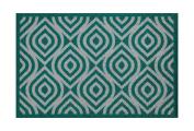 Lume Teal Diamond Design by Turtle Mat Indoor Washable Nylon Multi-Grip Mat - 50X75cm