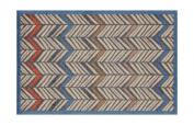 Lume Feather Stripe Design by Turtle Mat Indoor Washable Nylon Multi-Grip Mat - 50X75cm
