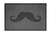Lume Moustache Design by Turtle Mat Indoor Washable Nylon Multi-Grip Mat - 50X75cm
